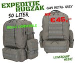 Expedition Pack - 50ltr - Gunmetal Grey