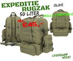 Expedition Pack - 50ltr - Olive Green