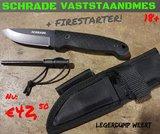 Schrade vaststaand mes met Firestarter_