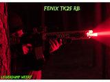 Fenix TK25 RB Jachtzaklamp met wit, rood en blauw licht en instant strobe_