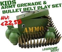 Kids Army Grenade & Bullet Belt Play Set