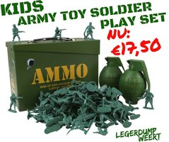 Kids Army Toy Soldier Play Set