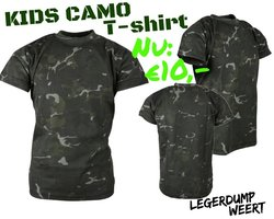 Army kids shirt BTP Black camo