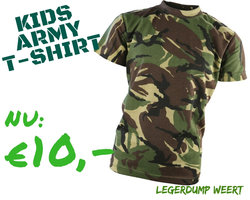 Army kids Camo T-shirt