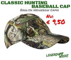 Classic Hunting Baseball Cap - English Hedgerow