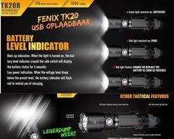 Fenix TK20R Oplaadbare zaklamp