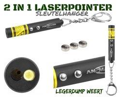 Mini laserpointer 2 in 1 sleutelhanger