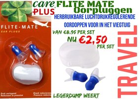 1 set Care Plus Ear Plugs Flite Mate  / Oorpluggen