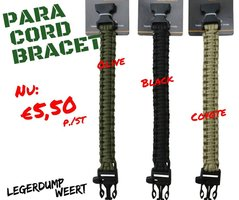 Paracord armband Coyote
