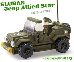 Sluban Jeep Allied Star - LIMITED EDITION !