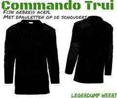 Commando trui fijn gebreid