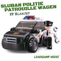 Sluban POLITIE PATROUILLE WAGEN  + politieagent