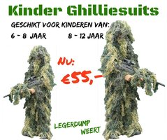 Army Kids Ghillie Suit - Woodland