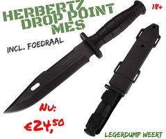 Herbertz Drop point vaststaand mes