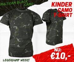 Army kids shirt multicam black