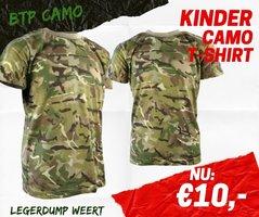 Army kids shirt BTP camo
