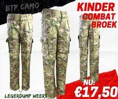 Army Kids  Camo Legerbroek BTP camo