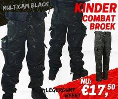 Army Kids  Camo Legerbroek multicam black