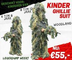Army Kids Ghillie Suit - Woodland 6 / 8 JAAR