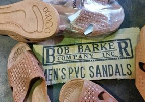 U.S. ex army ; Bob Barker Jail House Sandals
