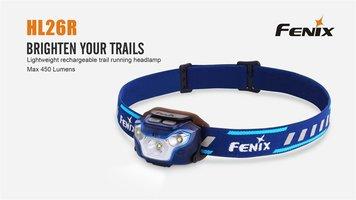 Fenix HL26R oplaadbare ledhoofdlamp voor trailrunning