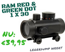 RAM Red &  Green Dot 1 x 30