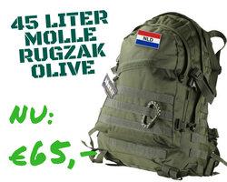 Kombat 45 Liter Olive molle rugzak