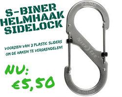 Helmhaak Stainless steel met sluiting