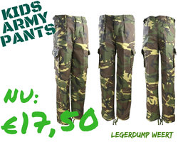 Army Kids  Camo Legerbroek