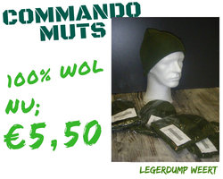 Commando muts 100 % wol