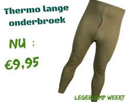 Thermo lange onderbroek groen