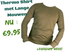 Thermo shirt met lange mouwen groen