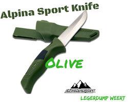 Alpina Sport Vaststaand mes Olive