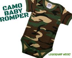 Camo Baby rompertje met mouw