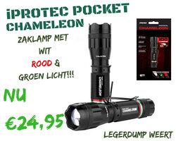 Iprotec Chameleon 4 x zoom wit, rood & groen licht