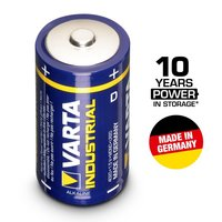 4 X VARTA INDUSTRIAL 1.5V LR20 MONO D BATTERY