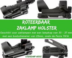 Tactisch zaklamp holster 35-37mm 360 graden roteerbaar