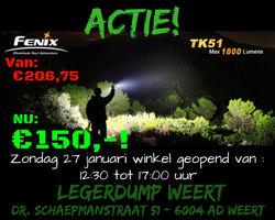 Fenix TK51 Dual LED zaklamp tot 1800 lumen