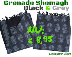 Shemagh Granade Black & Grey