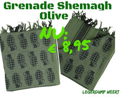 Shemagh Granade Olive