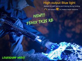 Fenix TK25 RB Jachtzaklamp met wit, rood en blauw licht en instant strobe