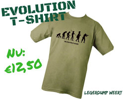 The Evolution of Soldier T-shirt