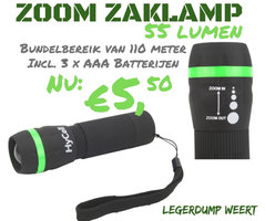 Hycell Zoom-zaklamp 1W-LED