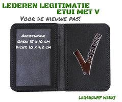 LEDEREN LEGITIMATIE-ETUI MET V BEVEILIGING
