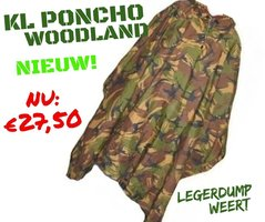 Poncho - Origineel KL - Nieuw