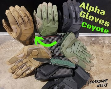 Alpha Tactical Gloves - Coyote