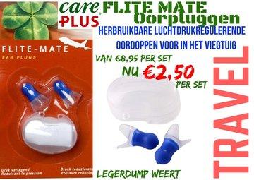 1 set Care Plus Ear Plugs Flite Mate  / Oorpluggen