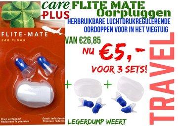 3 sets Care Plus Ear Plugs Flite Mate  / Oorpluggen