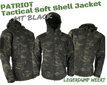 Soft shell jack - MT Black Camo