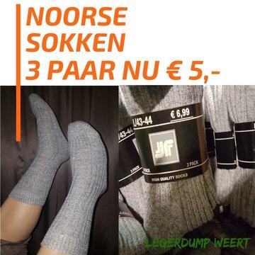 3 paar Noorse sokken